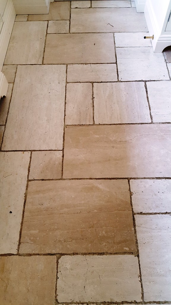 Burnishing And Sealing Works Wonders For Limestone Tiles
