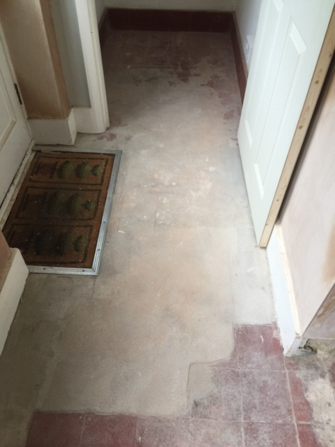 Cement and lino covered quarry tiles restored in woking for How to clean cement tile floors