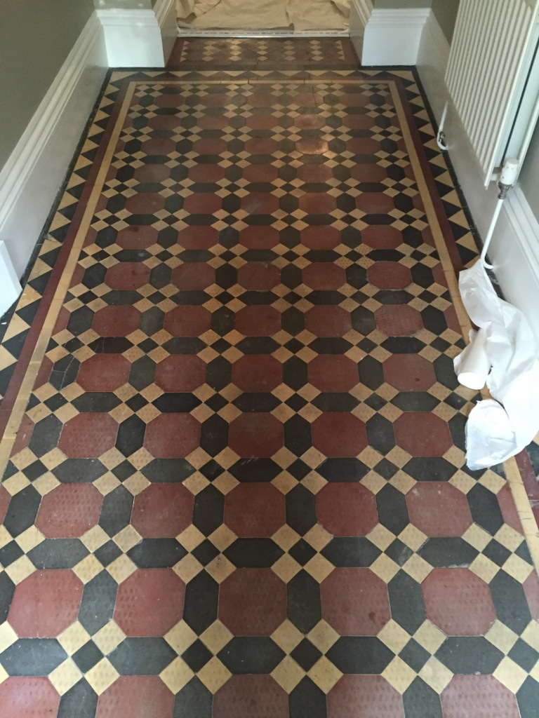 Victorian Tiled Hallway Restoration In Bridlington Tile