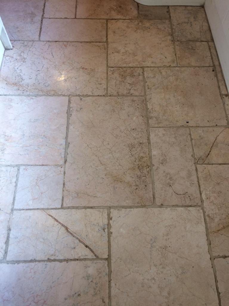 Restoring Heavily Soiled Marble Tiles With Burnishing In