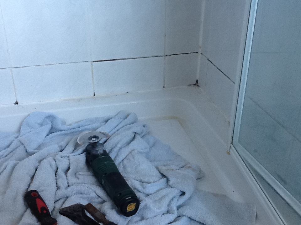 Mouldy Shower Cubicle Refreshed In Northampton Tile