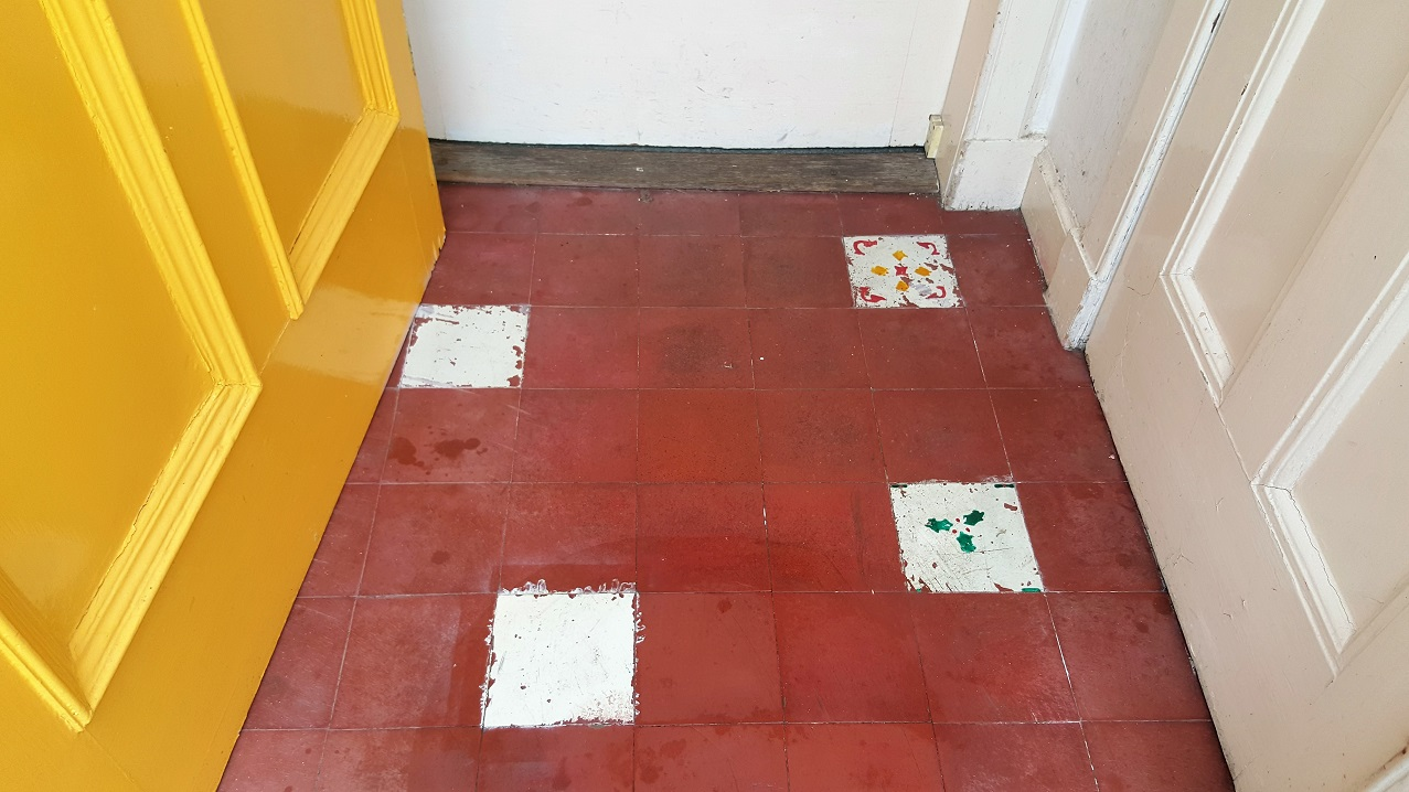 Restoring An Old Quarry Tiled Porch Floor In Edinburgh