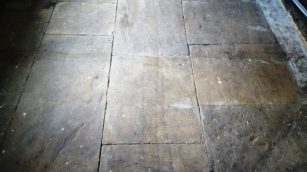 Old Yorkstone Tiled Floor Transformed At The Salts Mill