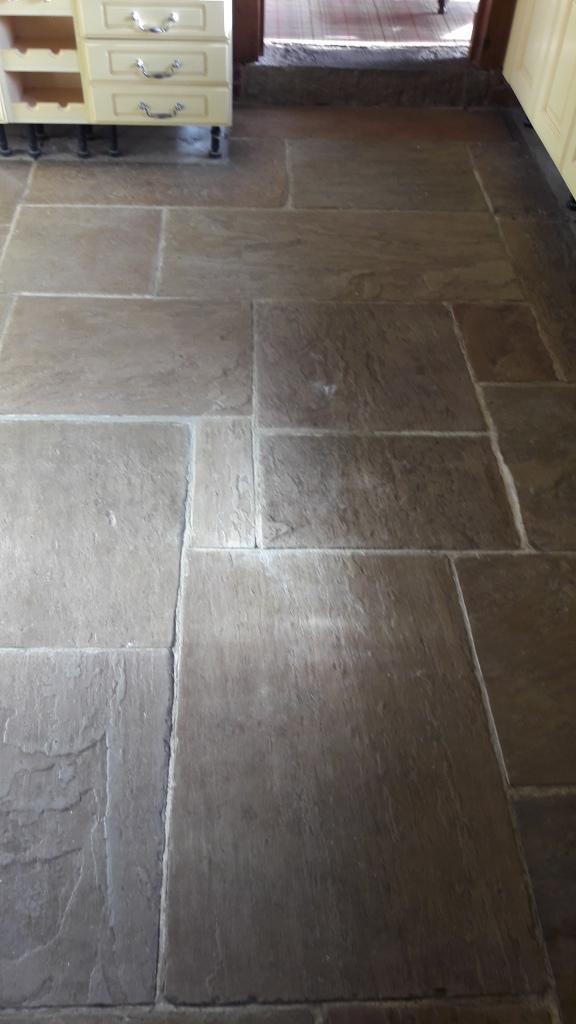 Rejuvenating A Sandstone Tiled Floor At A Barn Conversion
