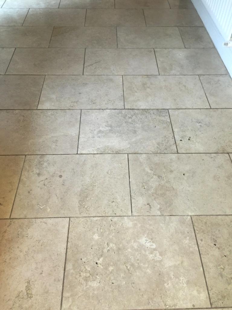 Restoring Travertine Kitchen Tiles In East Byfleet Tile