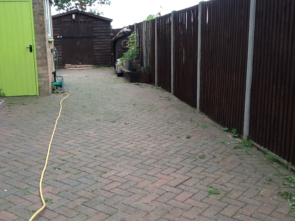 Brick Driveway Pressure Washed And Sealed In Pertenhall