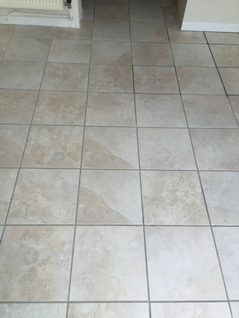 Tile cleaning and grout recolouring of white pitted ceramic tiles in ceramic tiles somerton after cleaning but before grout colouring dailygadgetfo Gallery