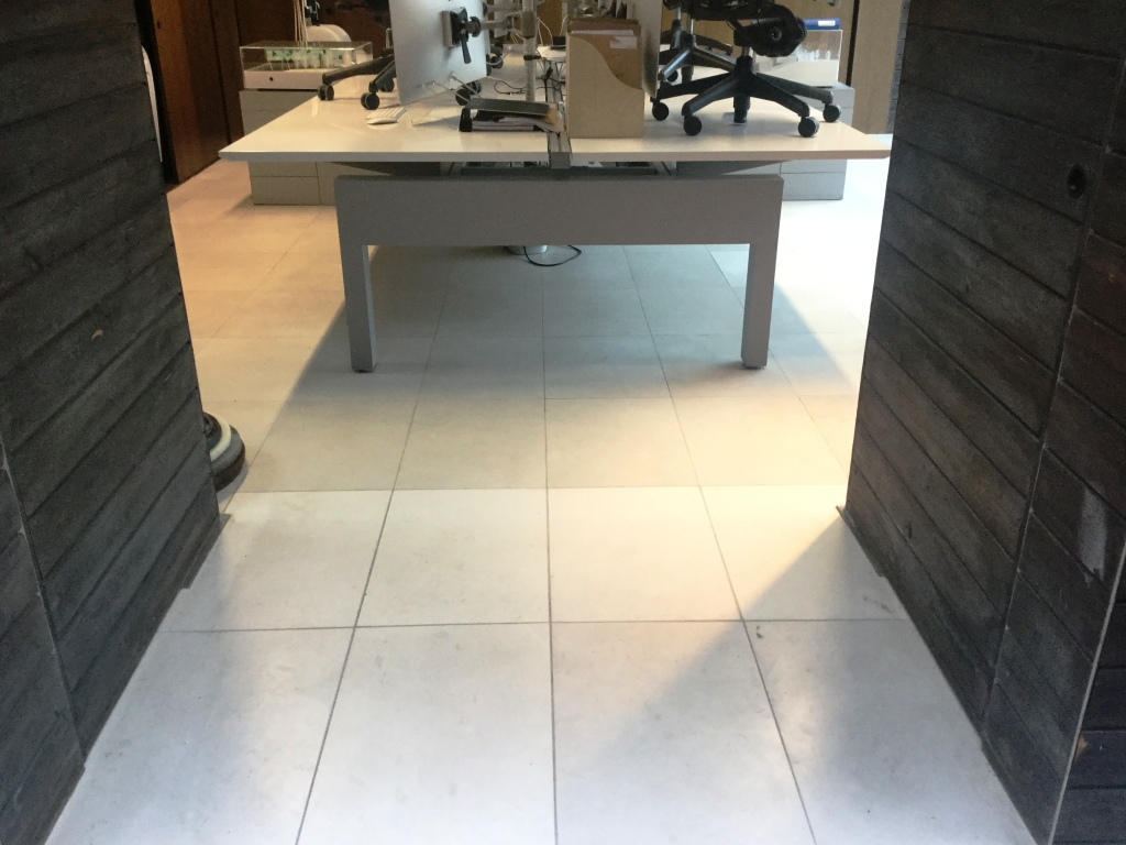 Polishing and Repairing a Limestone Office Floor in Maulden | Tile ...