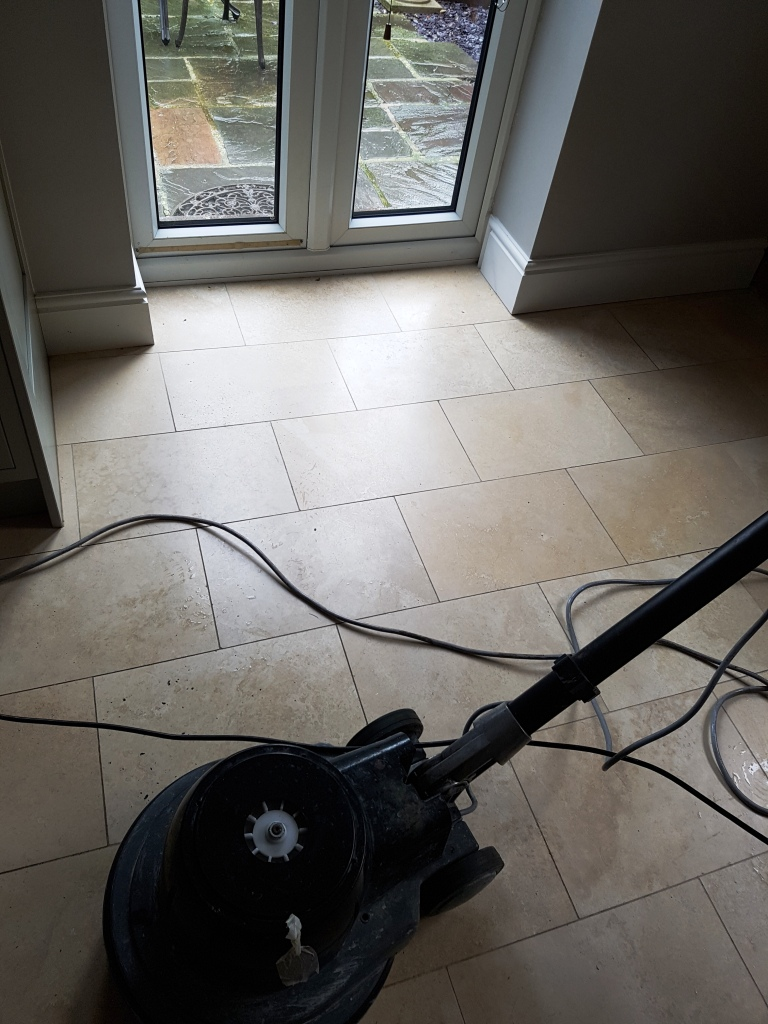 Cleaning Polishing And Sealing Travertine Floors In
