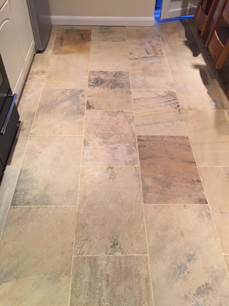 Indian Fossil Sandstone Tiles Restored in Swanland | Tile ...