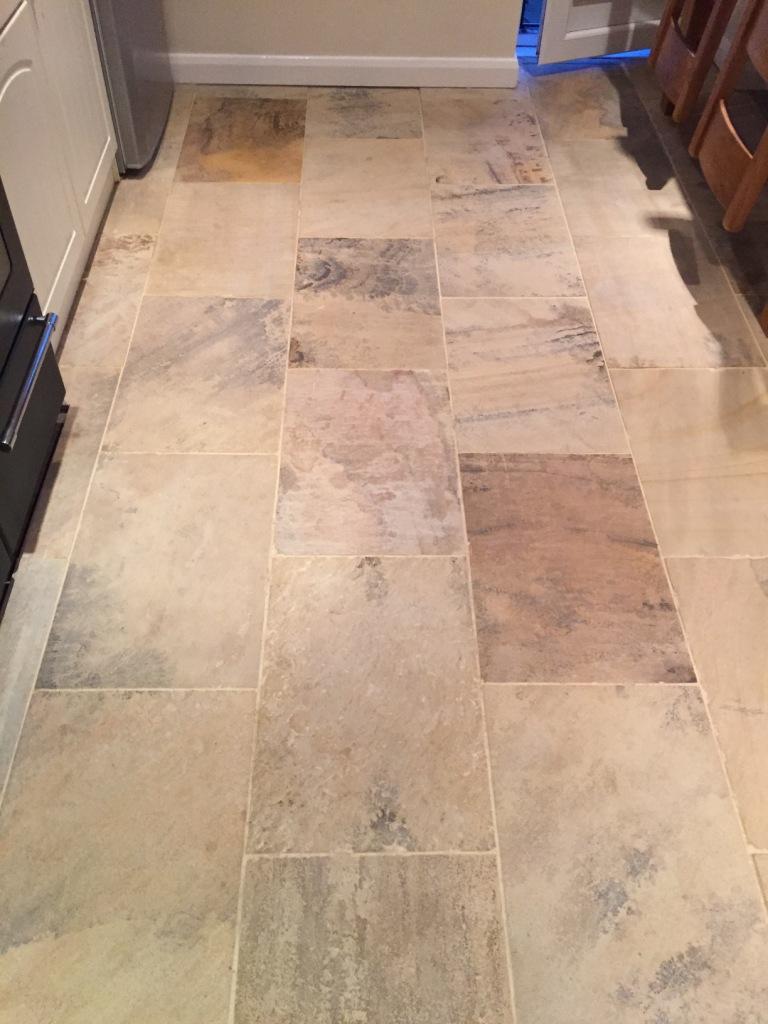 Vinyl Tile Grout >> Indian Fossil Sandstone Tiles Restored in Swanland | Tile