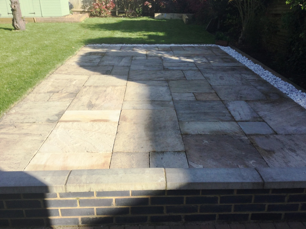 Cleaning And Grouting Sandstone Patio Paving In Kettering Tile Cleaners Tile Cleaning