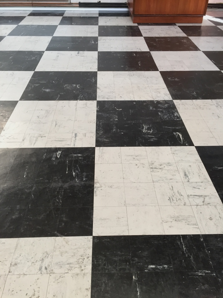 Deep Cleaning A Chequered Vinyl Floors In Oxford Catholic