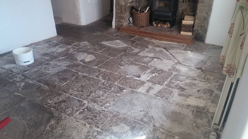 Centuries Old Limestone Flagstones Resurfaced And Restored