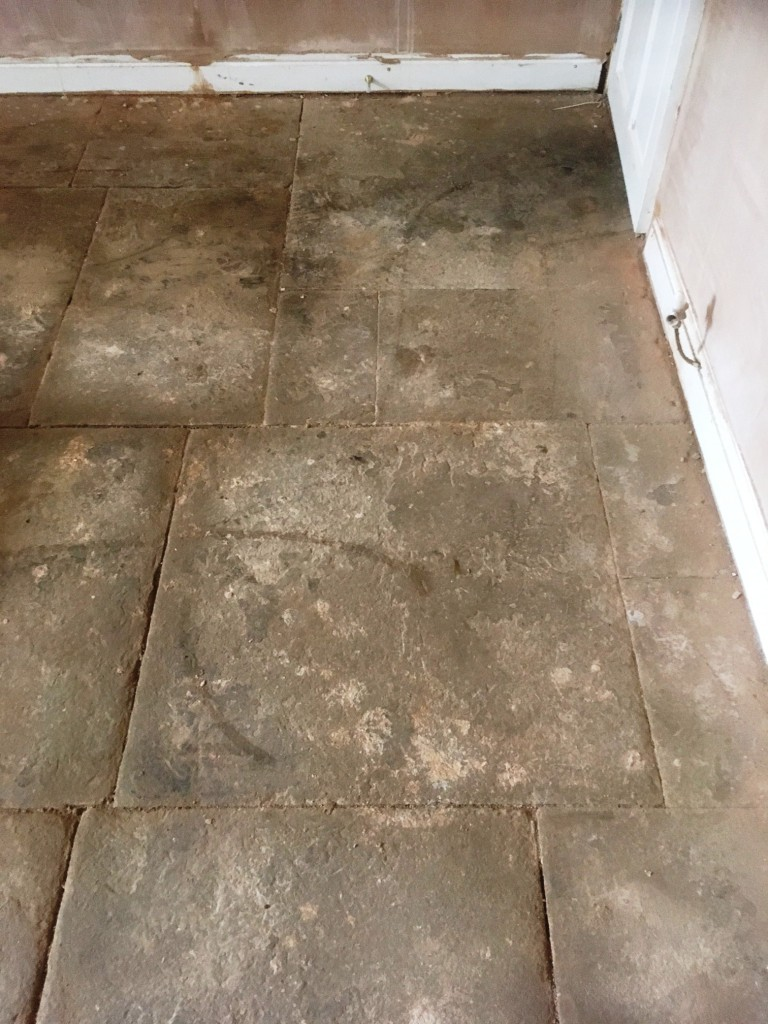 Old Flagstone Tiled Flooring Resurfaced In Great Harwood