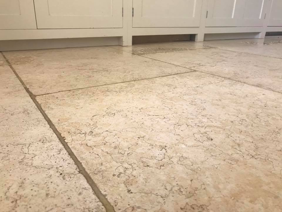 Cleaning A 40m2 Light Limestone Kitchen Floor At A Cottage In