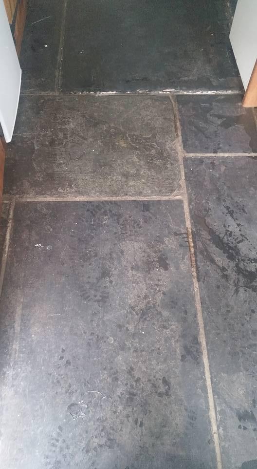 Old Reclaimed Slate Flagstone Floor Rejuvenated In Dawlish
