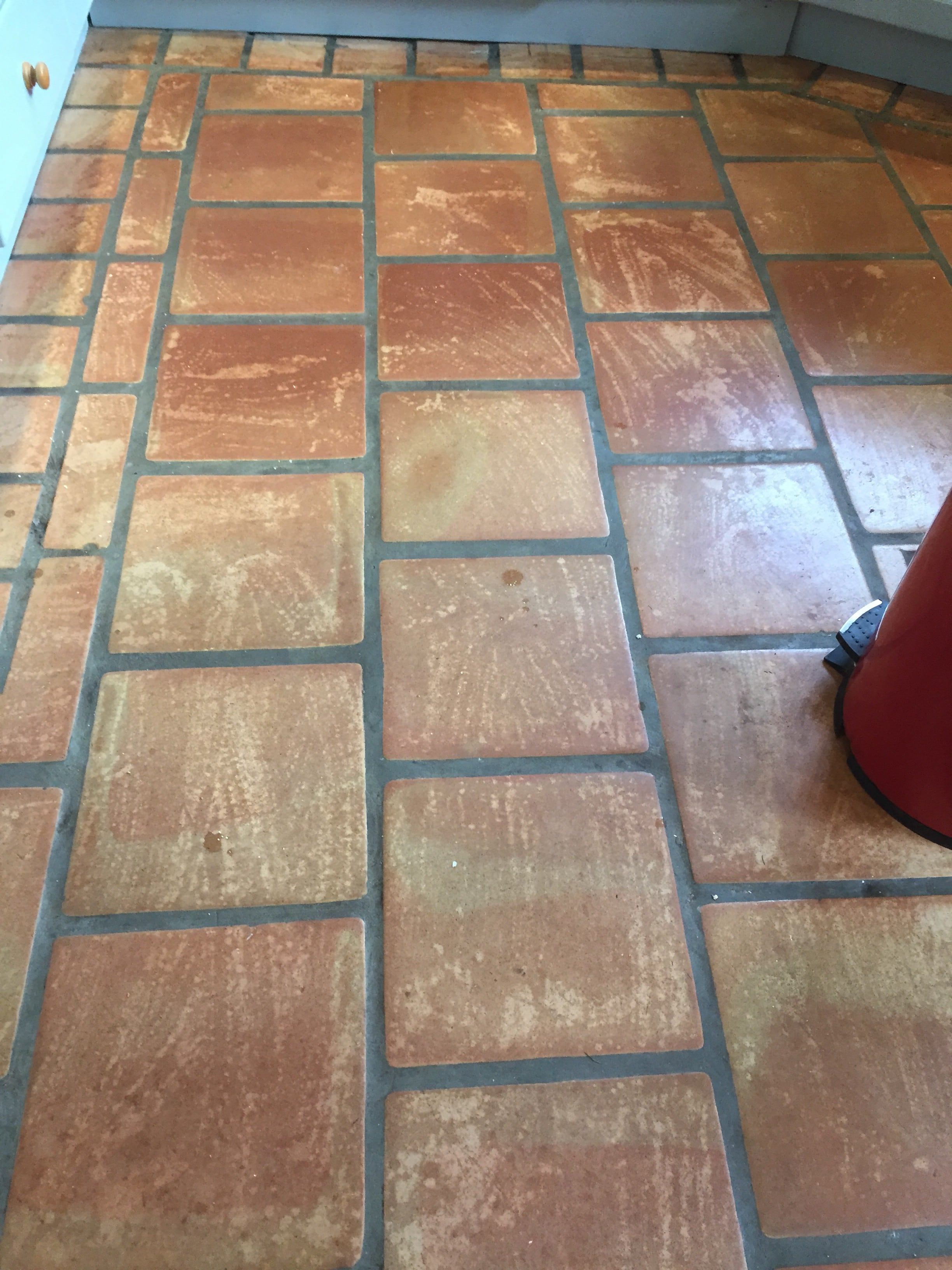 Cleaning And Resealing Terracotta Kitchen Tiles In Crewkerne Tile Cleaners Tile Cleaning