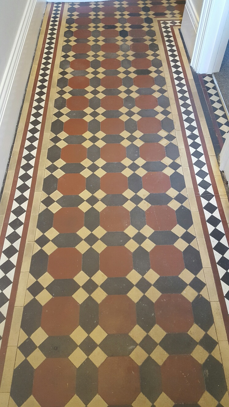 Regrouting Tile Floors Paint Spotted Victorian Tiled Hallway Deep Cleaned in ...
