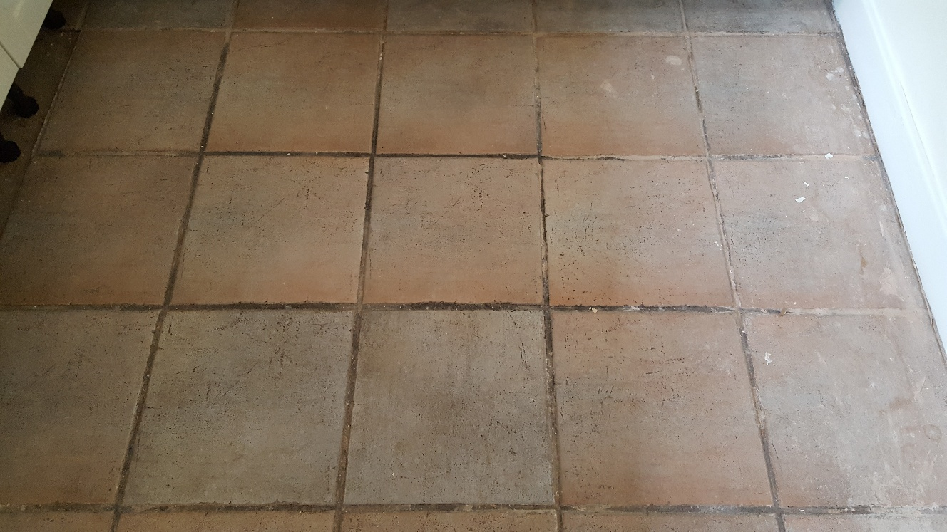 Ceramic Kitchen Floor Tiles And Terracotta Window Sills