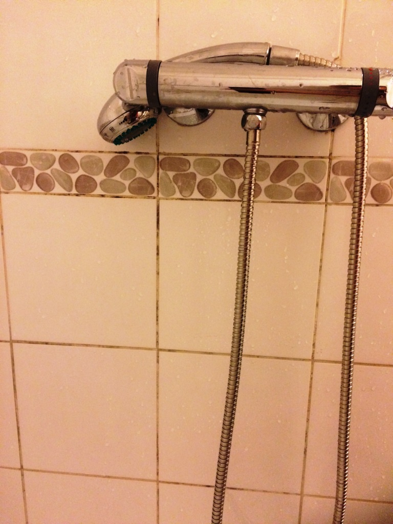 Cleaning Student Shower Cubicle Tile And Grout At Oldham
