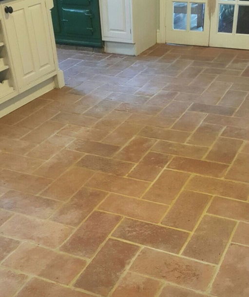 Traditional Terracotta Kitchen Floor Renovated in Welwyn Garden City ...