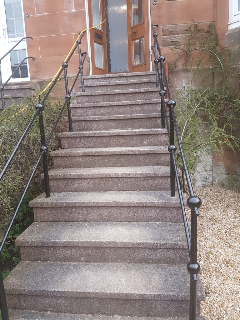 External Terrazzo Tile Steps Refinished In Glasgow Tile
