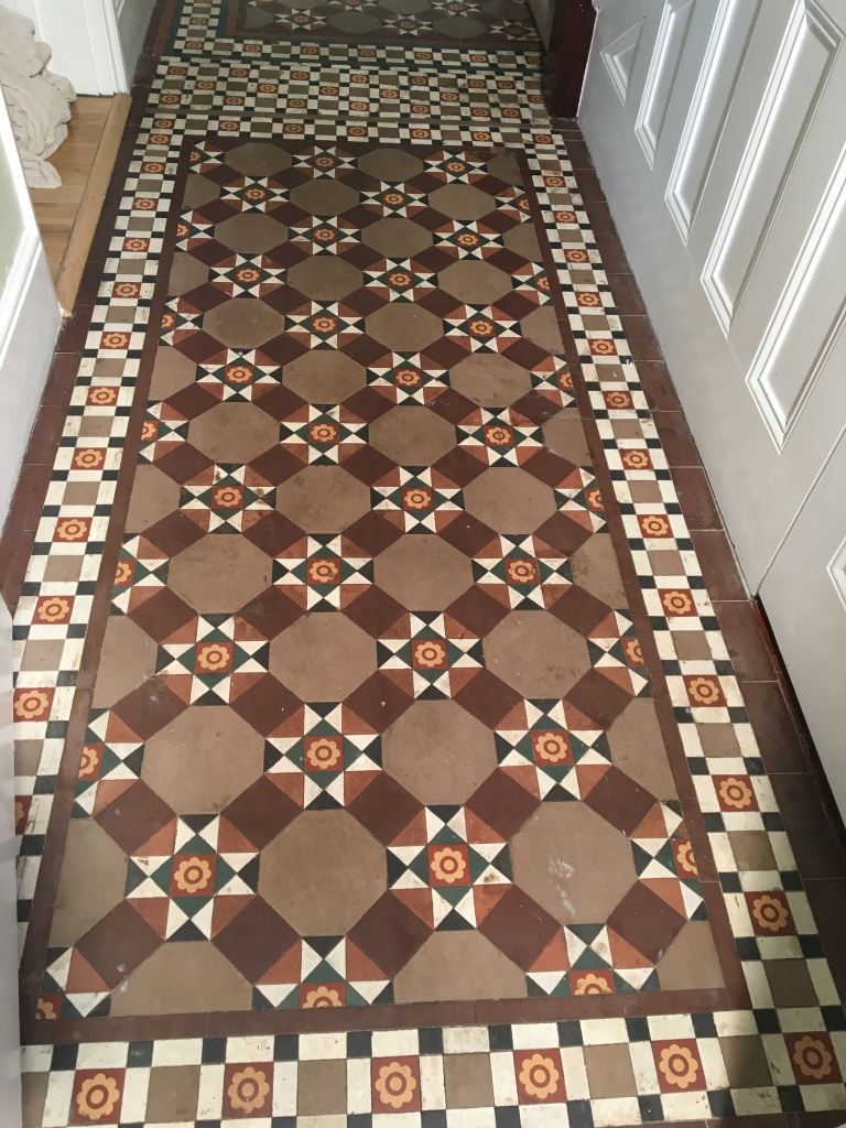 Original Victorian Tiled Hallway Brought Back To Life At An Esher Flat