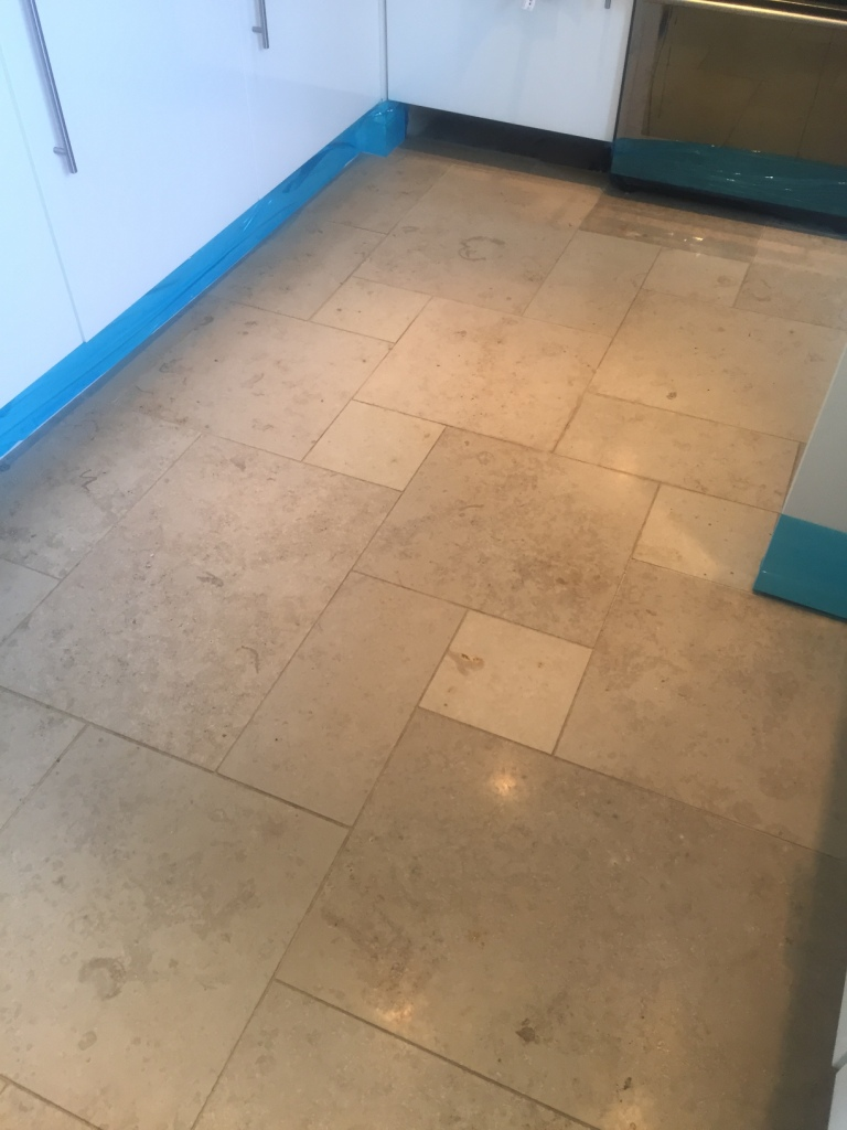 Polishing Dull Limestone Floor Tiles to a High Shine in Boxworth  Tile Cleaners  Tile Cleaning