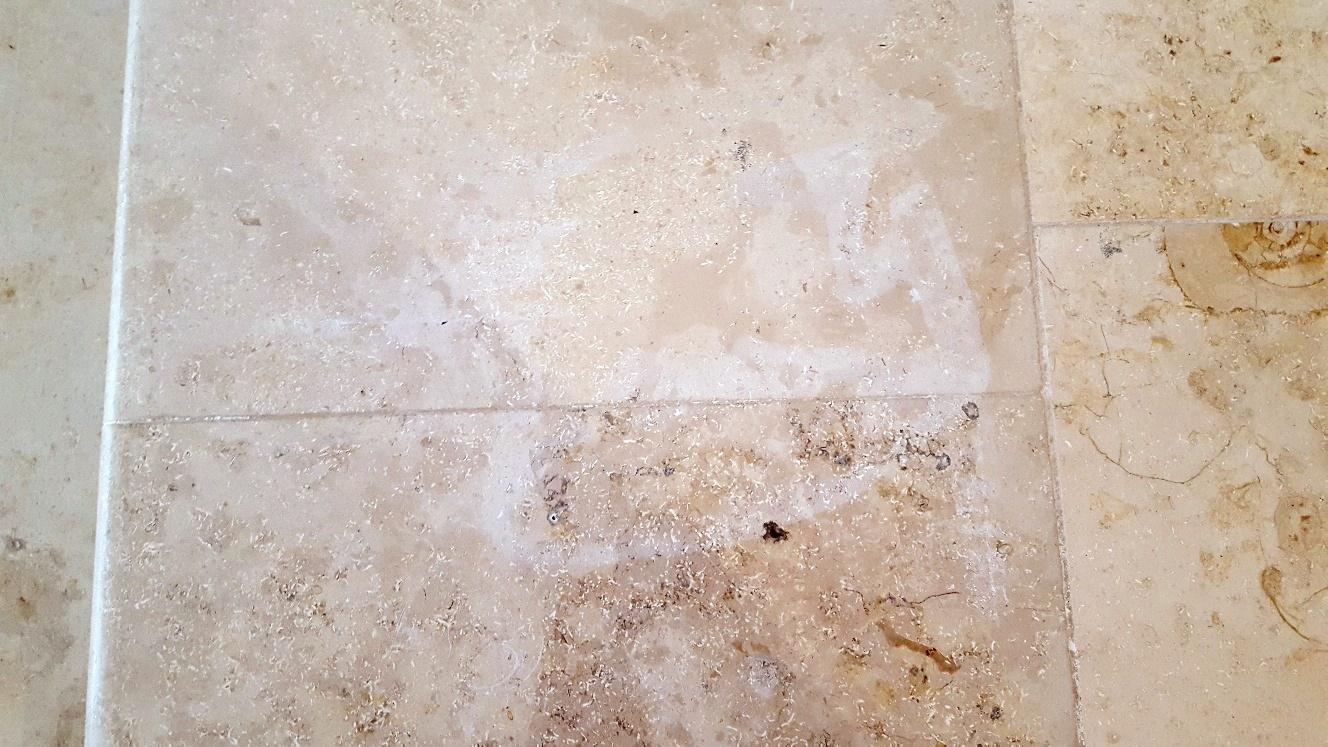 Bleach Damaged Jura Limestone Tiles Restored In Harrogate