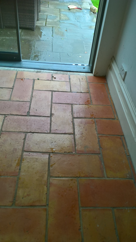 Stripping Varnish Off Terracotta Kitchen Tiles And Resealing In