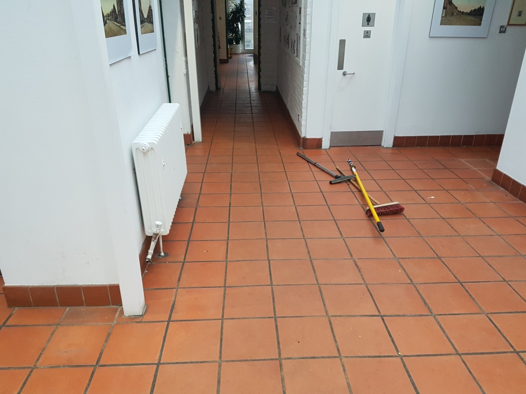 Terracotta Tiled Floor Refurbished In Amersham Council
