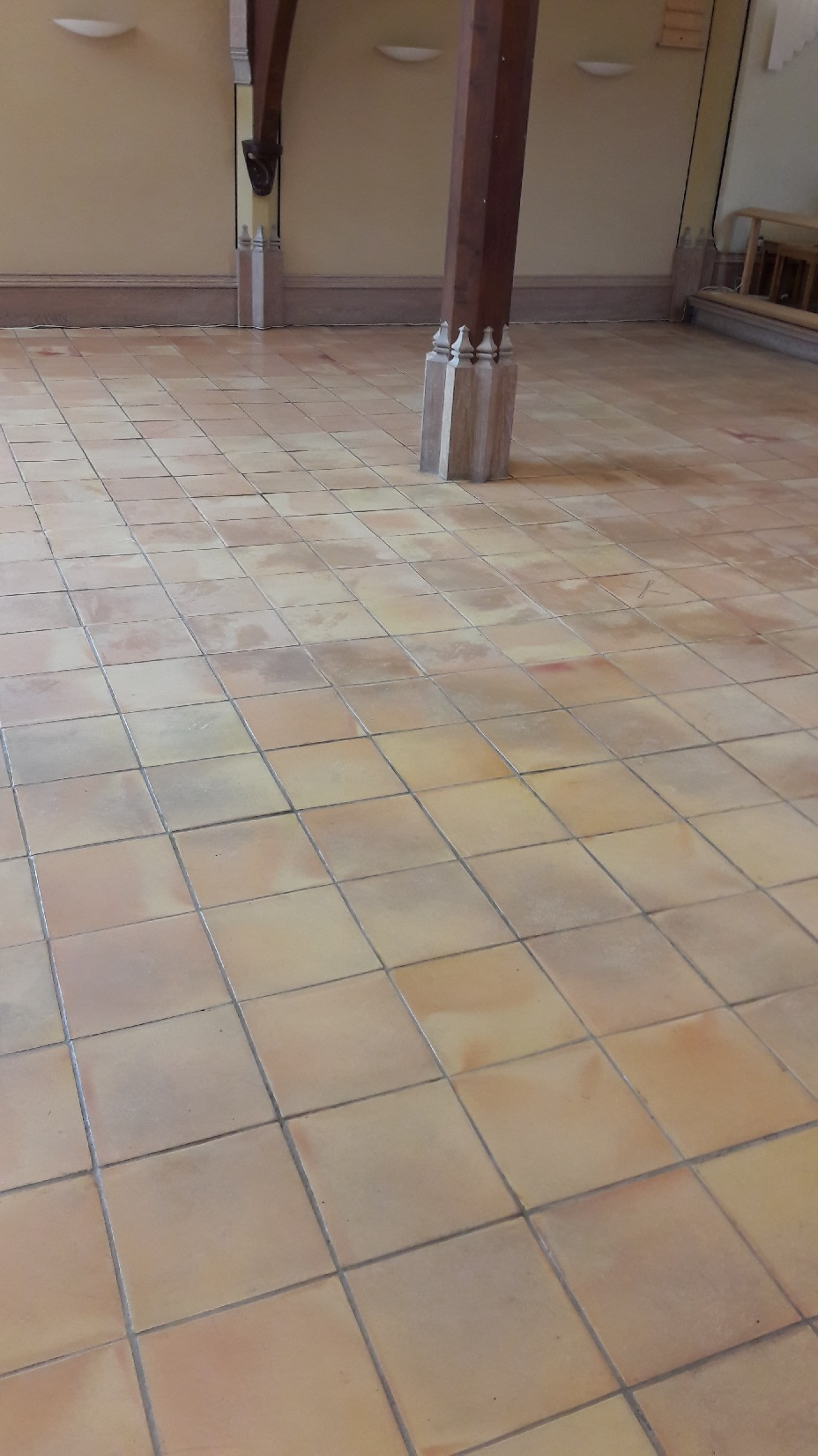 Terracotta Tiled Church Floor Renovated In Eaton Village Tile Cleaners Tile Cleaning