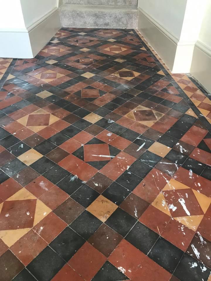 Victorian Tiled Farmhouse Hallway Deep Cleaned In