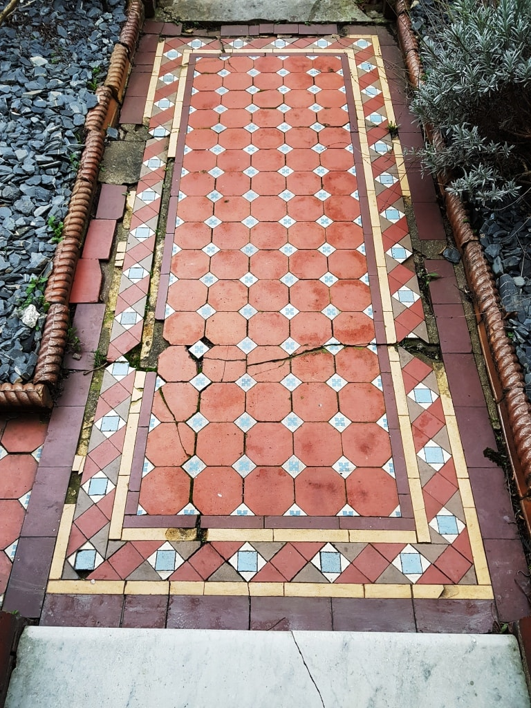 Damaged Victorian Tiled Path Rebuilt In Cardiff Tile