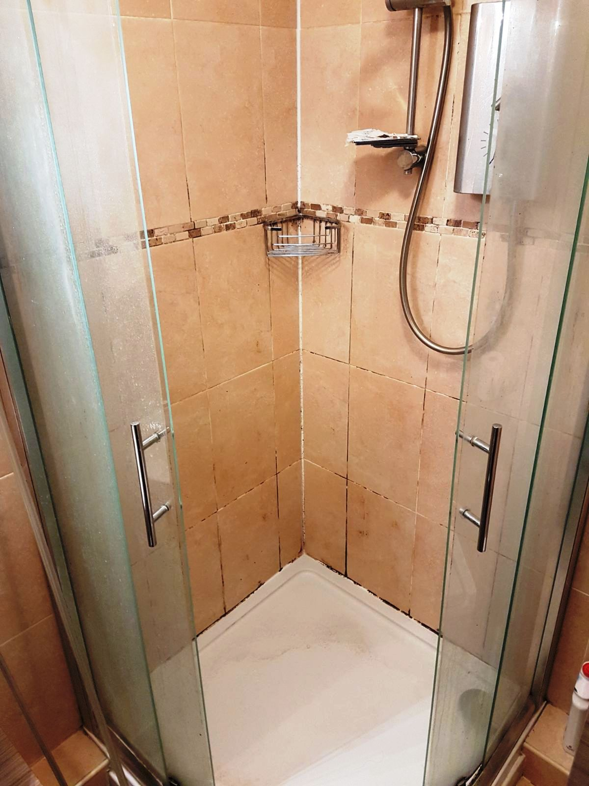 Mouldy Ceramic Tiled Shower Renovated In Uxbridge Tile Cleaners