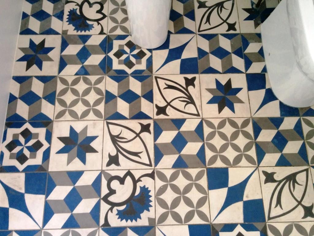 Soiled Encaustic Tiled Bathroom Floor Deep Cleaned In Sydenham