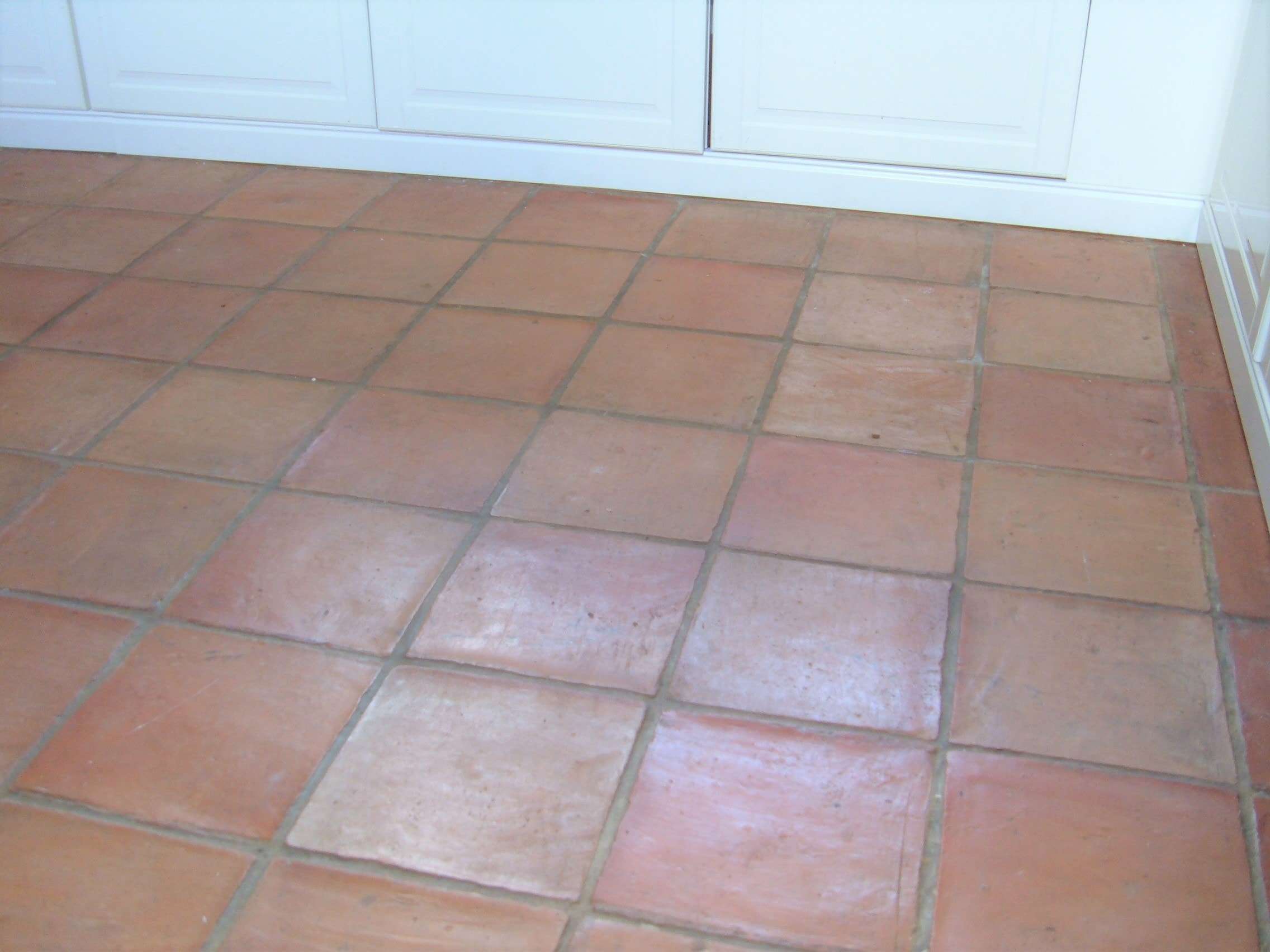 Dirty Terracotta Floor Tiles Cleaned And Sealed In Hales