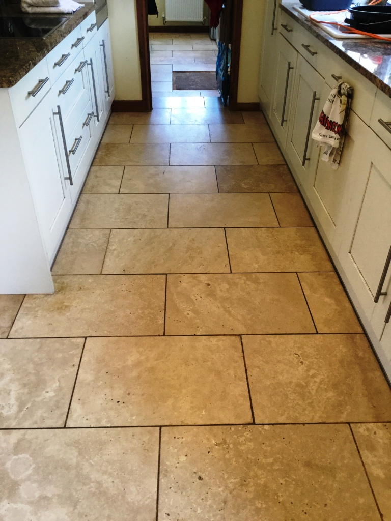 Travertine Floor Tiles Filled And Polished In Abthorpe Near