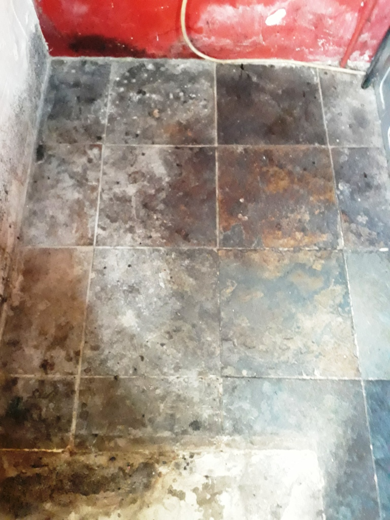 Renovating A Water Damaged Riven Chinese Slate Floor In