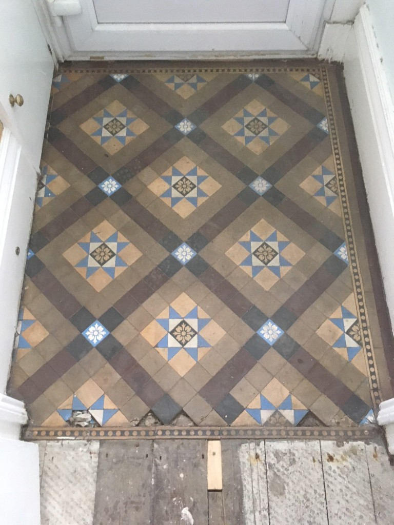 Restoring And Cleaning A Victorian Tiled Vestibule In