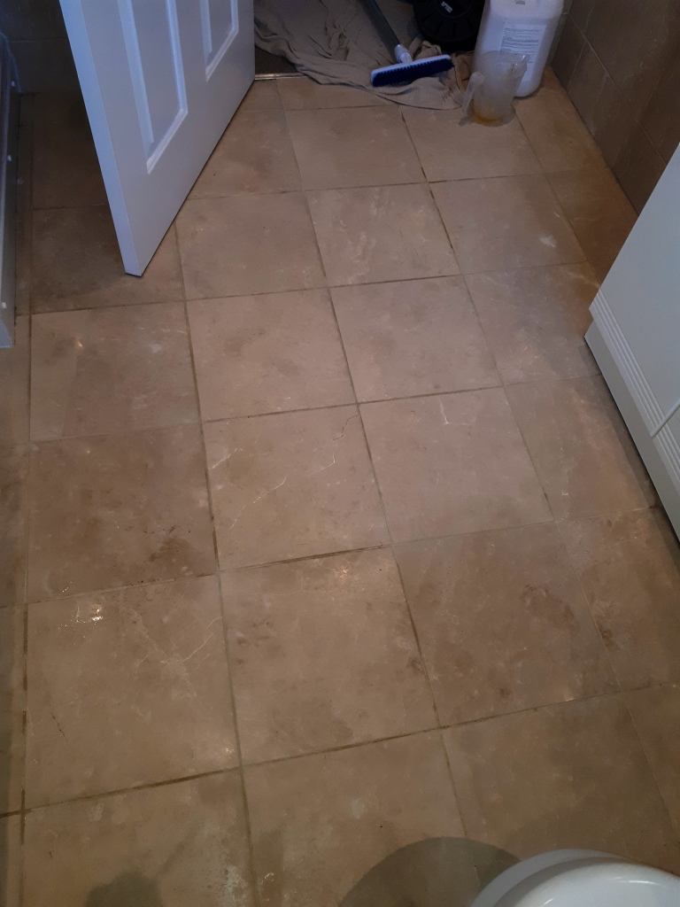 Polishing Marble Bathroom Floor Tiles In Brownhills Near