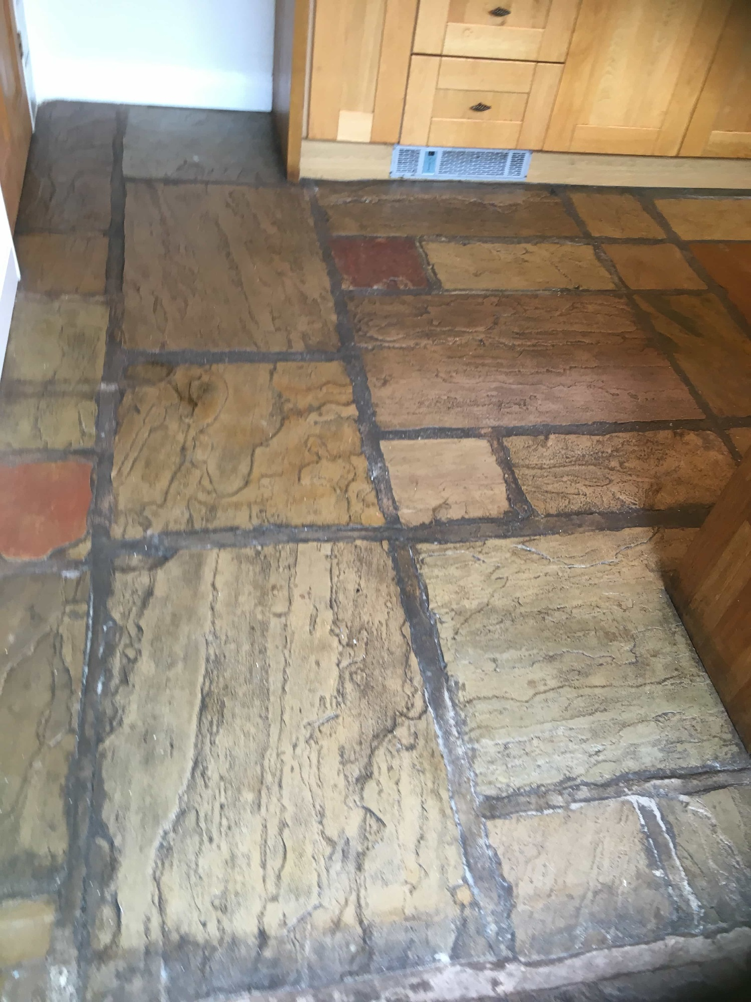 Deep Cleaning A Sandstone Flagstone Floor In Burscough