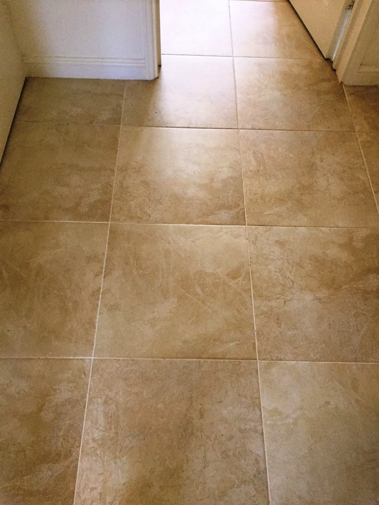 Grout Colour Changed On Large Porcelain Tiled Floor In