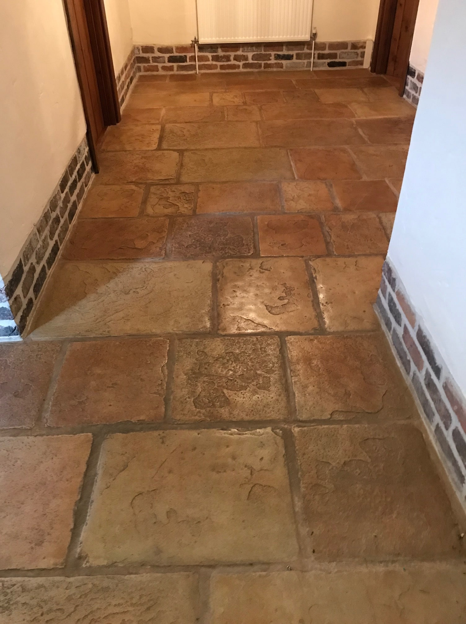 how to clean concrete tiles