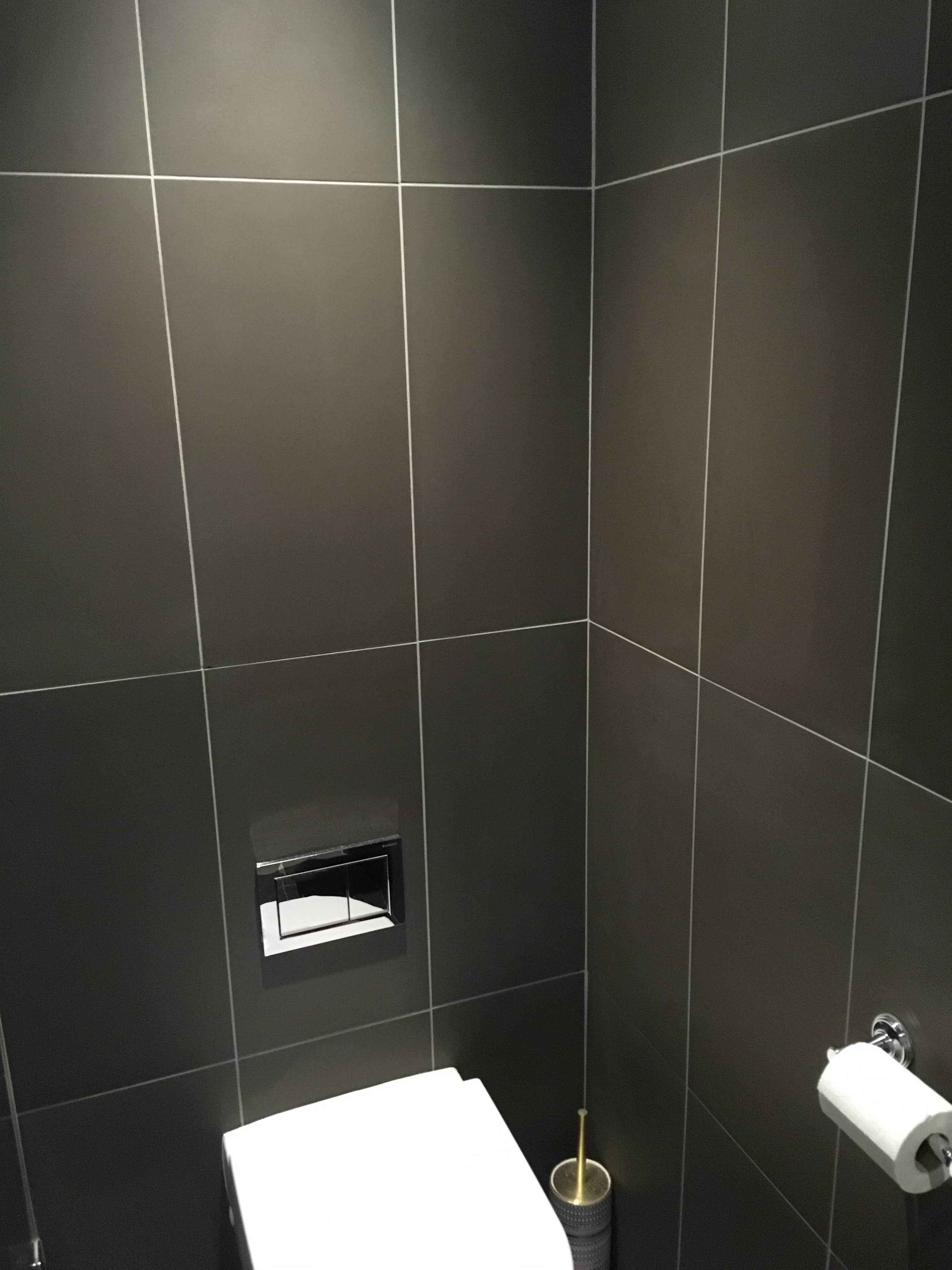 Marvelous Correcting Tilers Grout Colour Mistake In A Cobham Bathroom Interior Design Ideas Clesiryabchikinfo